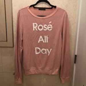 Wildfox rosé all day sweatshirt
